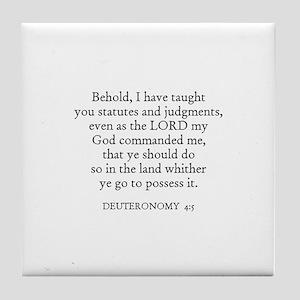 DEUTERONOMY  4:5 Tile Coaster