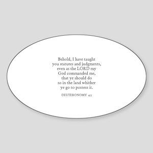 DEUTERONOMY 4:5 Oval Sticker