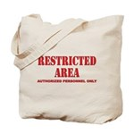 Restricted Area Tote Bag