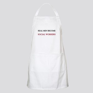 Real Men Become Social Workers BBQ Apron