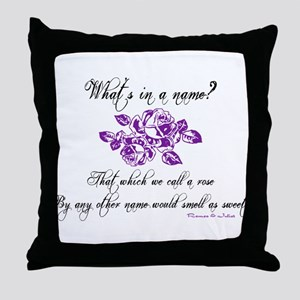 What's in a Name Throw Pillow