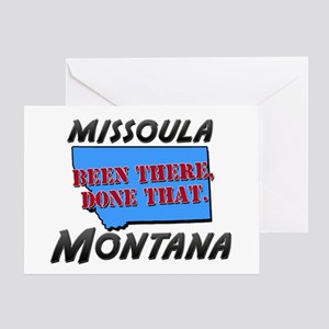 missoula montana - been there, done that Greeting