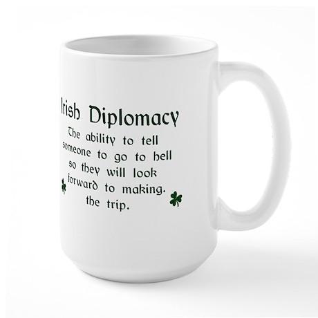 Irish Diplomacy Large Mug