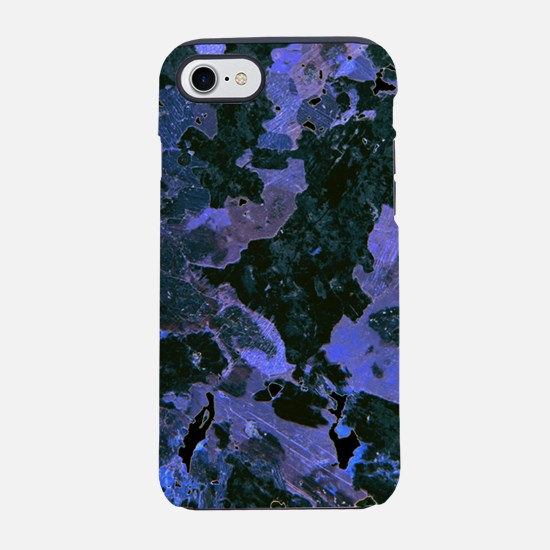 Blue Black Abstract iPhone 7 Tough Case