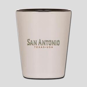 Retro San Antonio Shot Glass