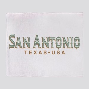 Retro San Antonio Throw Blanket