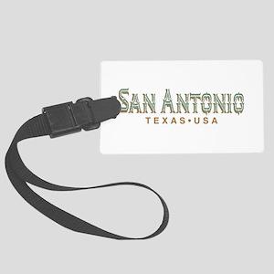 Retro San Antonio Large Luggage Tag