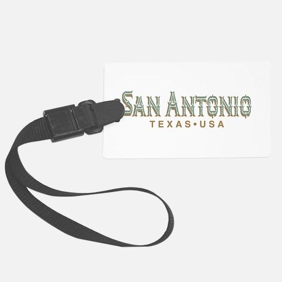 Retro San Antonio Luggage Tag
