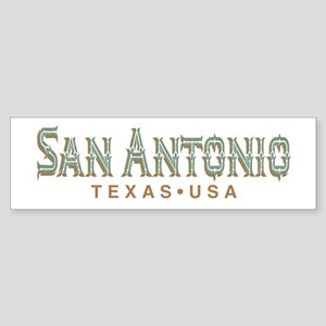Retro San Antonio Bumper Sticker