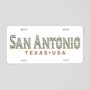 Retro San Antonio Aluminum License Plate