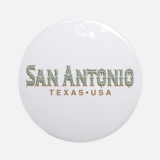 Retro San Antonio Round Ornament