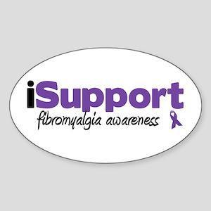 iSupport Fibromyalgia Oval Sticker