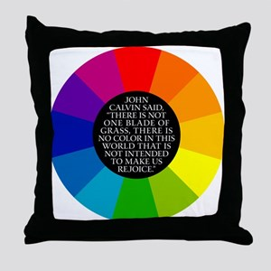 John Calvin-Color Throw Pillow