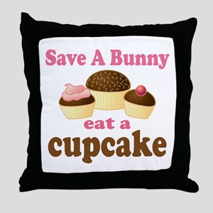 Funny Easter Cupcake Throw Pillow