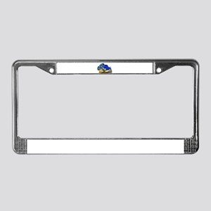 Dodge Ram Blue Truck License Plate Frame