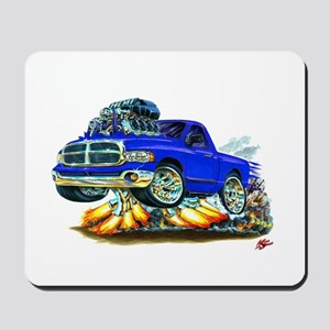 Dodge Ram Blue Truck Mousepad