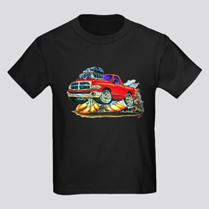 Dodge Ram Red Truck Kids Dark T-Shirt