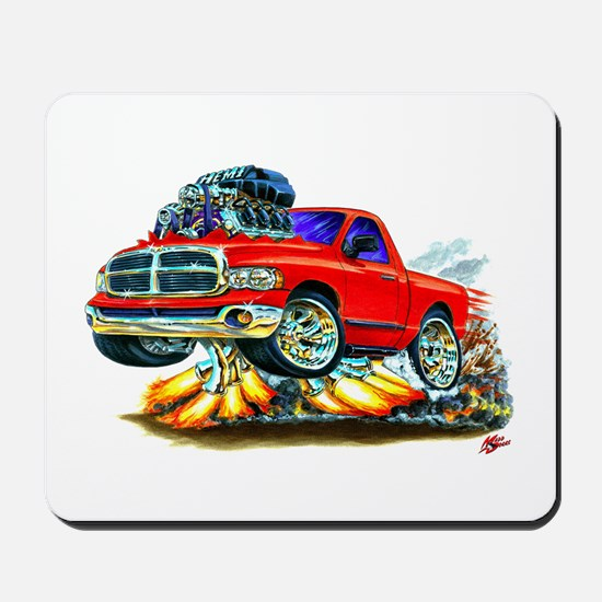 Dodge Ram Red Truck Mousepad