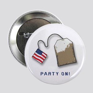 "PARTY ON! Tea Party 2.25"" Button"