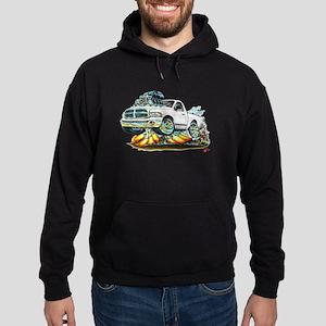 Dodge Ram White Truck Hoodie (dark)