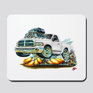 Dodge Ram White Truck Mousepad
