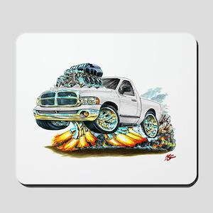 Dodge Ram White Truck Mousepad