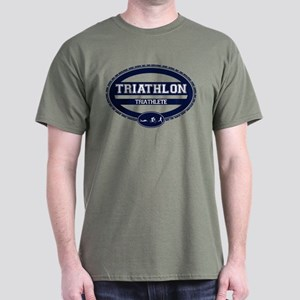 Triathlon Oval - Women's Triathlete Dark T-Shirt