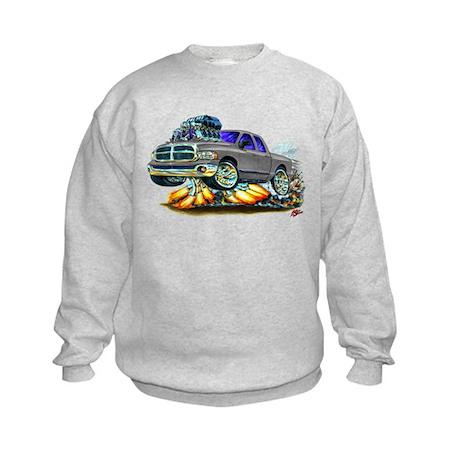 Dodge Ram Dual Cab Silver/Grey Truck Kids Sweatshi
