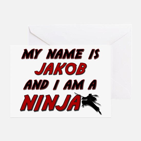 my name is jakob and i am a ninja Greeting Card