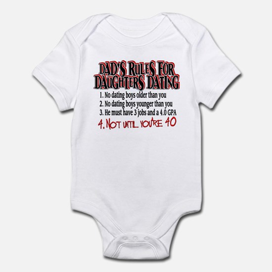 Dads Rules for Daughters Dating Infant Bodysuit