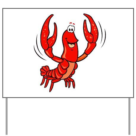 Crawfish Yard Sign