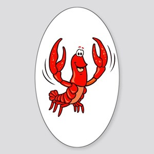 Crawfish Oval Sticker