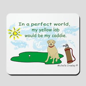 yellow lab Mousepad