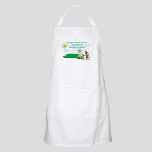 yellow lab BBQ Apron