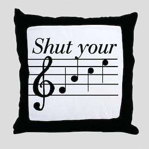 Shut your face Throw Pillow