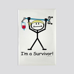 Cancer Survivor Rectangle Magnet (100 pack)