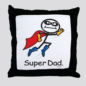 Super Dad Throw Pillow