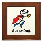 Super Dad Framed Tile
