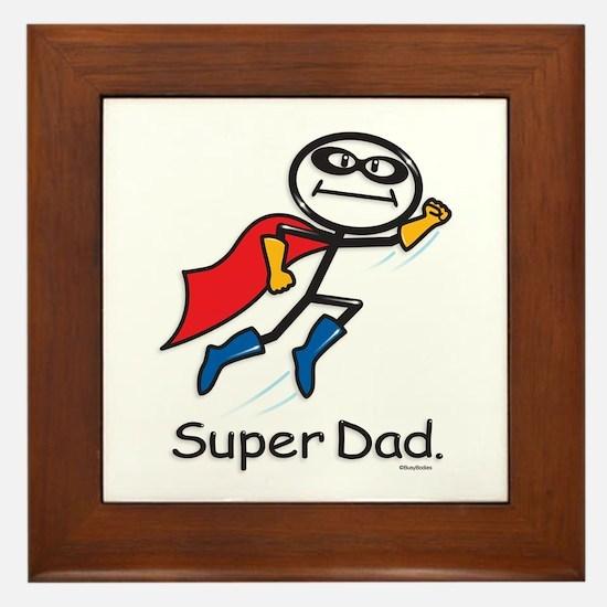 Super Dad Framed Tile