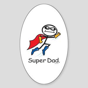 Super Dad Oval Sticker
