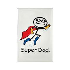 Super Dad Rectangle Magnet (100 pack)