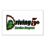 Driving Five Rectangle Sticker