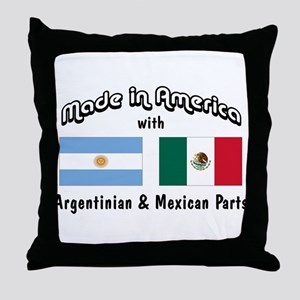Argentinian-Mexican Throw Pillow