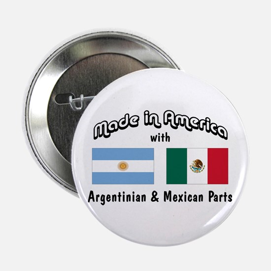 "Argentinian-Mexican 2.25"" Button"