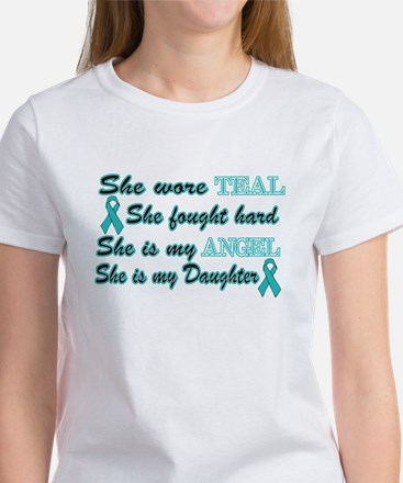 She is my Daughter Teal Angel Women's T-Shirt
