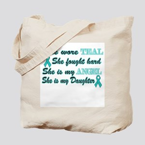She is my Daughter Teal Angel Tote Bag
