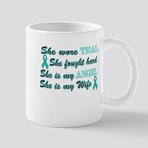 She is my Wife Teal Angel Mug