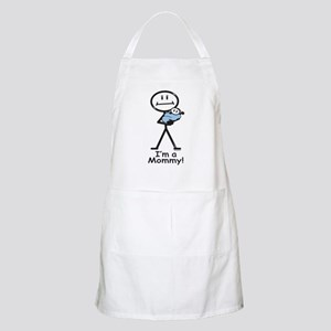 New Mom Baby Boy BBQ Apron