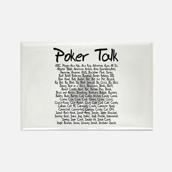 Poker Talk (Poker Terms) Rectangle Magnet