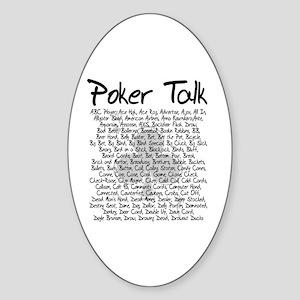 Poker Talk (Poker Terms) Oval Sticker